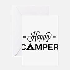 Cute happy camper Greeting Cards