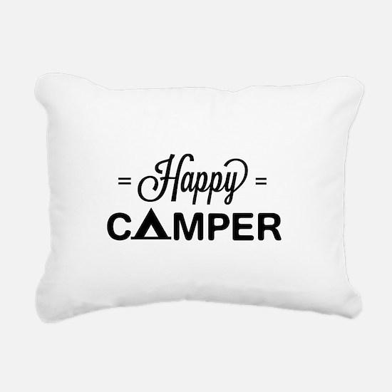 Cute happy camper Rectangular Canvas Pillow