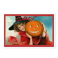 Jack-o-Lantern Girl Postcards (Package of 8)