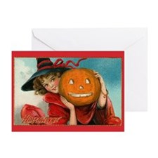Jack-o-Lantern Girl Greeting Cards (Pk of 10)