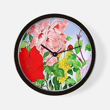 Dazzlin' Roses Wall Clock
