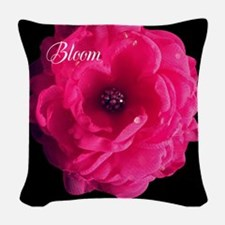 Pink Bloom Woven Throw Pillow