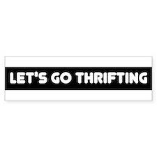 Letsgothriftinglogo Bumper Bumper Sticker