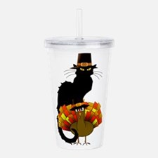 Thanksgiving Le Chat N Acrylic Double-wall Tumbler