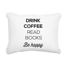 Drink coffee read books be happy Rectangular Canva