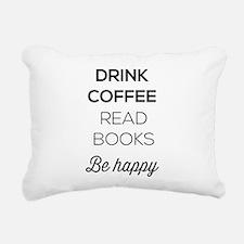Drink coffee read books be happy Rectangular Canva
