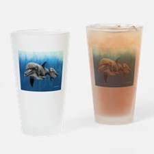 Dolphin Mother and Calf Drinking Glass