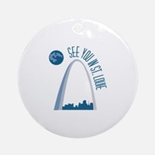 See You In St.Loue Ornament (Round)