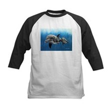 Dolphin Mother and Calf Baseball Jersey