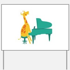 Piano Giraffe Yard Sign