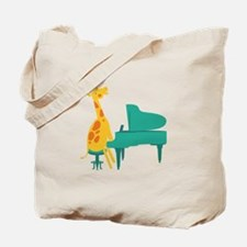 Piano Giraffe Tote Bag