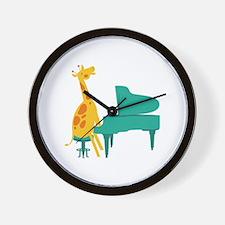 Piano Giraffe Wall Clock