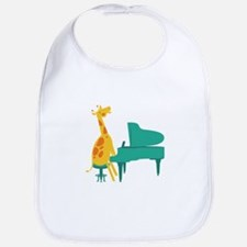 Piano Giraffe Bib