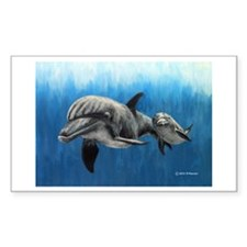 Dolphin Mother and Calf Decal