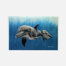 Dolphin Mother and Calf Magnets