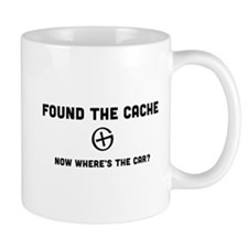 Found the cache now where's the car? Mugs