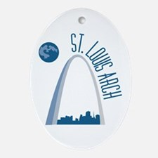 St. Louie Arch Ornament (Oval)