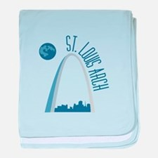St. Louie Arch baby blanket