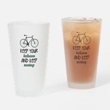 Keep Moving Drinking Glass