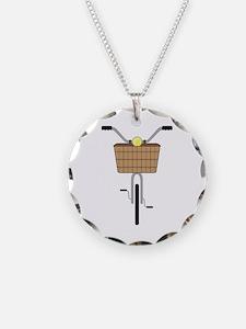 Basket On Bike Necklace