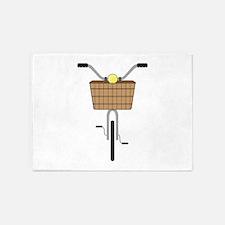 Basket On Bike 5'x7'Area Rug
