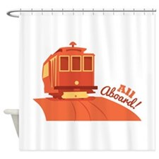All Aboard! Shower Curtain