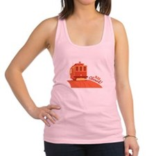 All Aboard! Racerback Tank Top