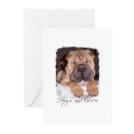 HUGS AND KISSES DOG Birthday Cards (Pk of 10)