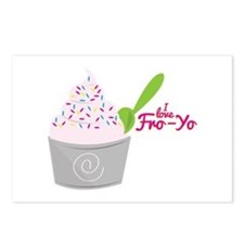 I Love Fro-Yo Postcards (Package of 8)