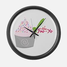 I Love Fro-Yo Large Wall Clock