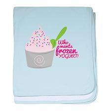 Frozen Yogurt? baby blanket
