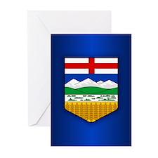 Alberta Flag Greeting Cards