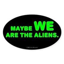 Aliens Oval Decal