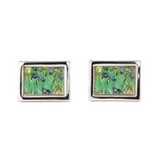 Van Gogh Irises Rectangular Cufflinks