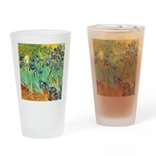 Van Gogh Irises Drinking Glass