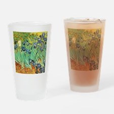 Van Gogh Irises Drinking Glass