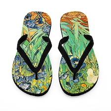 Van Gogh Irises Flip Flops