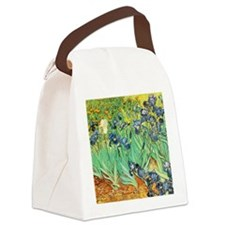 Van Gogh Irises Canvas Lunch Bag