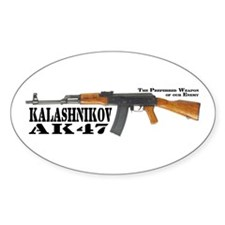 AK-47 Decal Euro Oval Decal