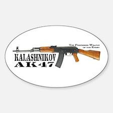 AK-47 Decal Euro Oval Decal