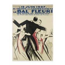 Dancers At French Ball; Vintage Art 5'x7'area Rug