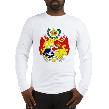 Tonga coat of arms long sleeve t shirt for Shirts for men with long arms