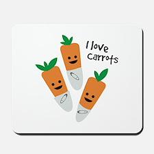 I Love Carrots Mousepad