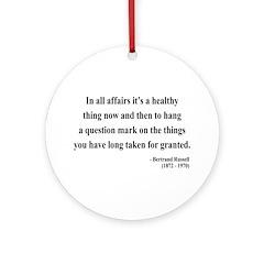 Bertrand Russell 6 Ornament (Round)