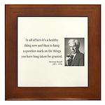 Bertrand Russell 6 Framed Tile