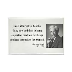 Bertrand Russell 6 Rectangle Magnet