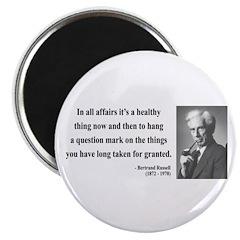 "Bertrand Russell 6 2.25"" Magnet (10 pack)"