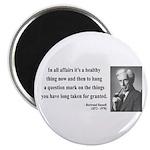 "Bertrand Russell 6 2.25"" Magnet (100 pack)"