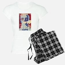 Coffee, Caffe, Vintage Poster Pajamas