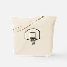 B&W Basketball Hoop Tote Bag